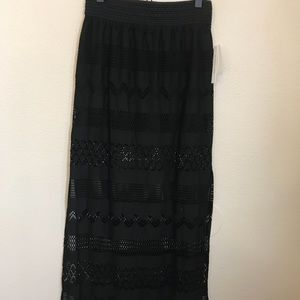 [Joe B] Crochet Maxi Skirt with side slits